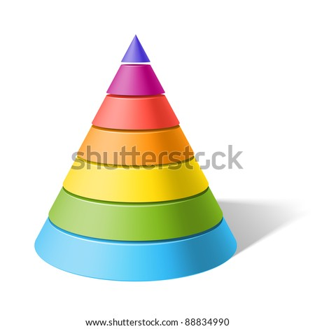 Layered cone. Vector.