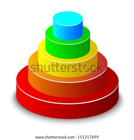 Layered pyramid. Vector.  - stock vector