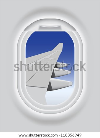 Layered vector illustration of Aircraft's Porthole. - stock vector