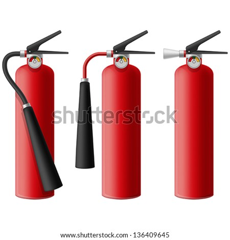 Layered vector illustration of Fire Extinguisher.