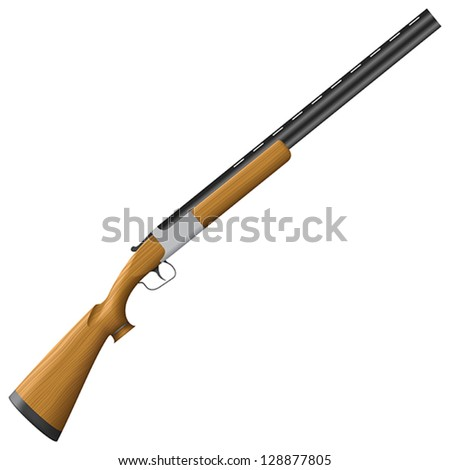 Layered vector illustration of isolated Shotgun. - stock vector