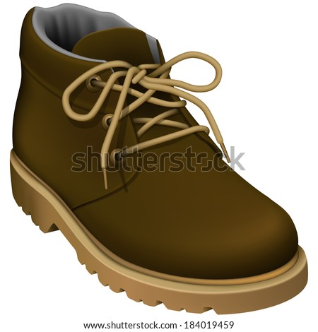 Layered vector illustration of Work Boots. - stock vector