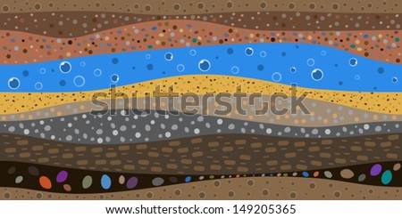 layers of the earth abstract graphic background. Seamless pattern. - stock vector