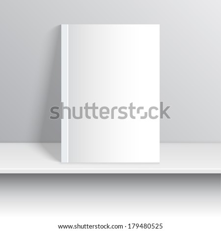Layout booklet, books, magazine, print, publication, on the shelf. Journal of the interior - stock vector