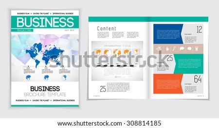 Layout brochure, vector  - stock vector