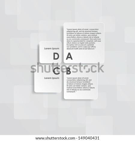 Layout design. - stock vector