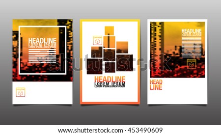 Layout Design Template, Cover Book, City Abstact Background - stock vector