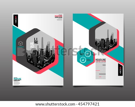 Layout Design Template, Cover Book, Geograohic Abstact Background - stock vector