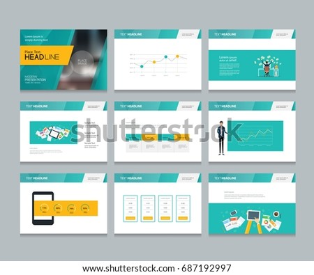 layout design template business presentation brochure stock vector