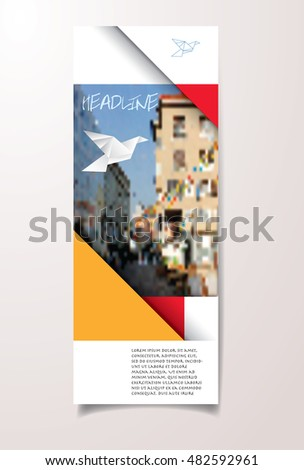 layout for flyer, brochure, annual report or book cover, vector illustration