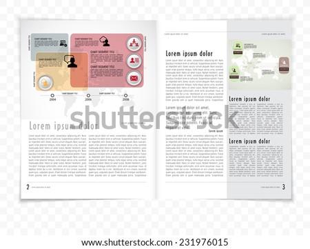 Layout magazine - stock vector