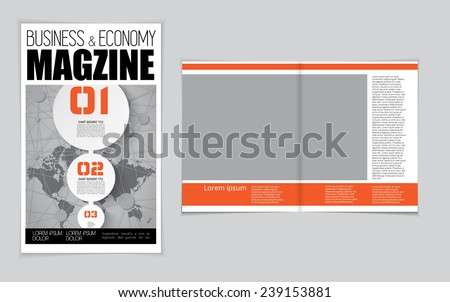 Layout of business magazine. Easy to editable vector  - stock vector