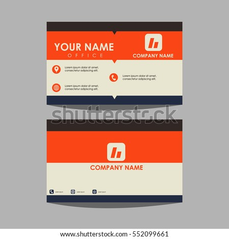 Layout template id card business card stock vector 552099661 layout template id card and business card wajeb Choice Image