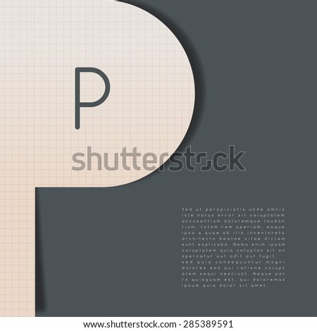 Layout Template In Alphabet Shape : Vector Illustration - stock vector