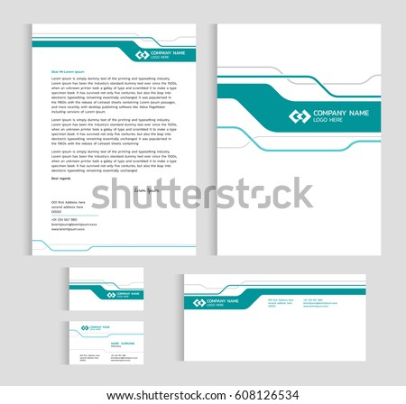 Layout template size a 4 cover page stock vector 608126534 layout template size a4 cover page business card and letter green line sharp abstract reheart Gallery
