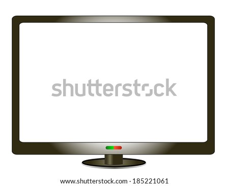 LCD - stock vector