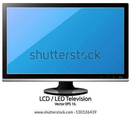 LCD / LED TV Vector Illustration, EPS 10. - stock vector