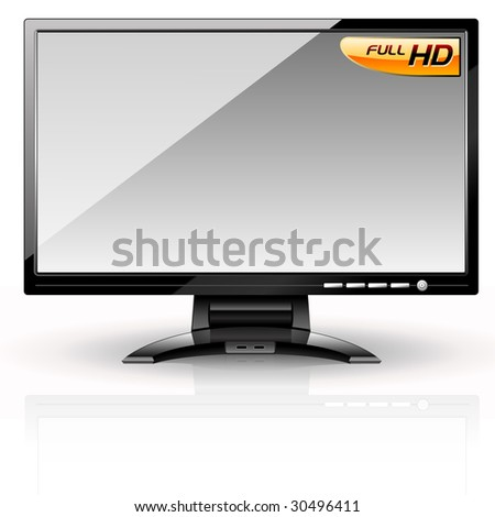 LCD Panel: Gray variant. Editable vector - stock vector