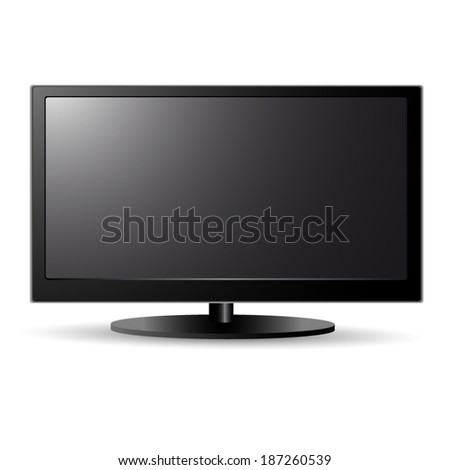 Lcd screen tv - stock vector