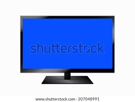 LCD television, vector design. - stock vector