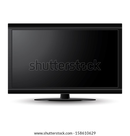 LCD TV vector on isolated white background