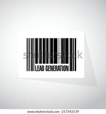 lead generation barcode illustration design over a white background - stock vector