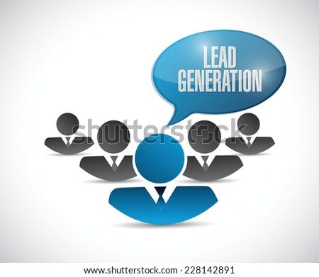 lead generation business graph illustration design over a white background - stock vector