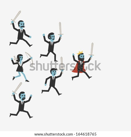 Leader - stock vector