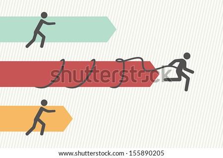Leader concept - stock vector