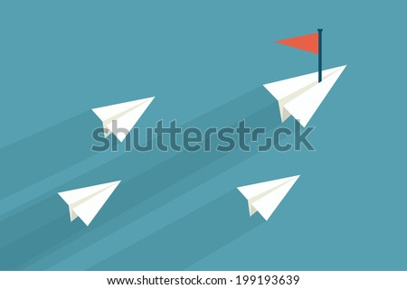 leader concept flat design. - stock vector