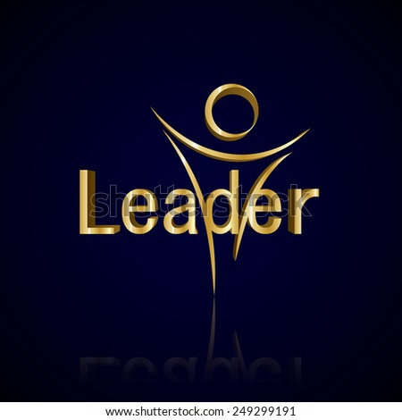 Leader - Isolated On Blue Background - Vector Illustration, Graphic Design, Editable For Your Design     - stock vector