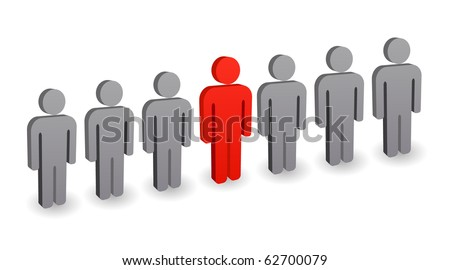 leader of group - concept - stock vector