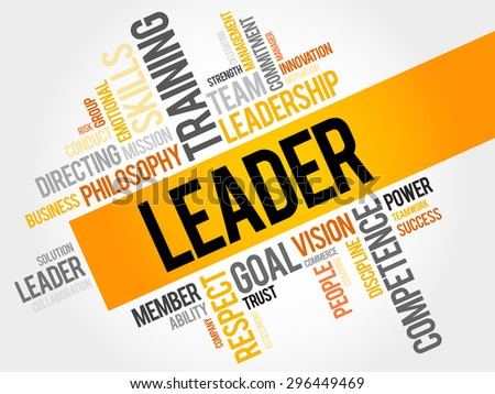 LEADER word cloud, business concept - stock vector