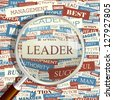 LEADER. Word collage. Vector illustration. - stock photo