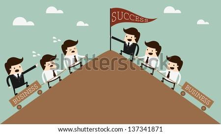 Leadership, - stock vector