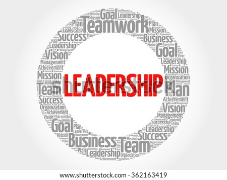 LEADERSHIP circle word cloud, business concept - stock vector