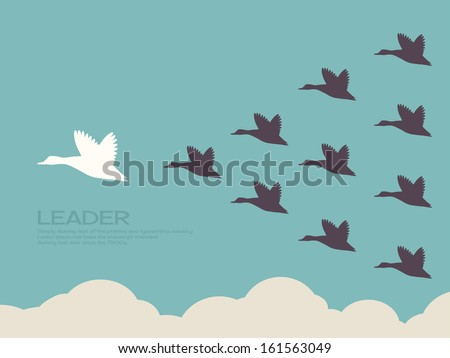 leadership concept - stock vector