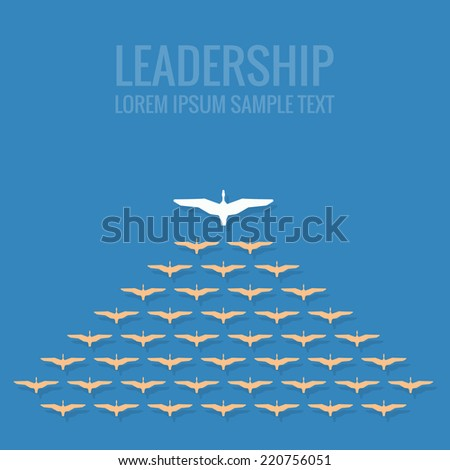 leadership concept flat design - stock vector