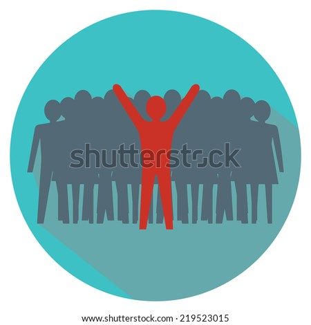 Leadership concept. Stand out from the crowd. Vector illustration.