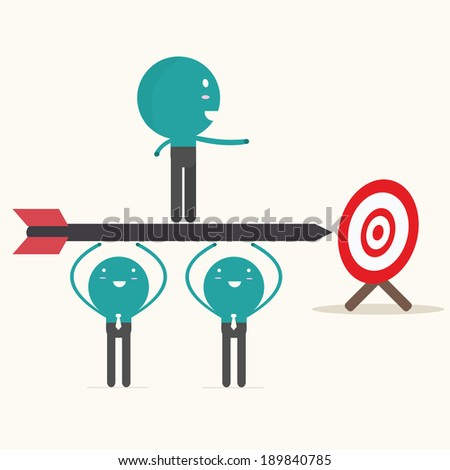 leadership concept,vector,illustration. - stock vector