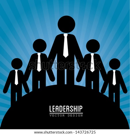 leadership design over blue background vector illustration - stock vector