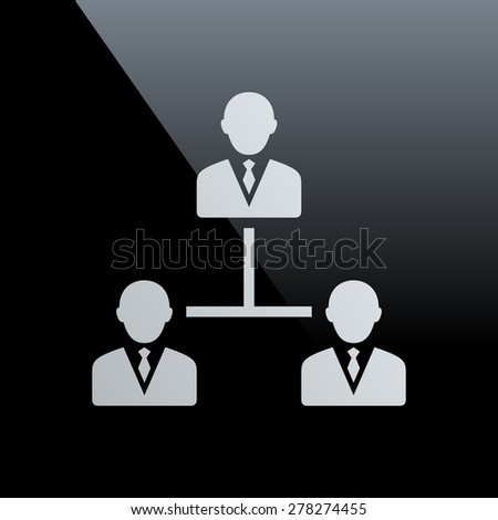 Leadership icon on a black background. - stock vector