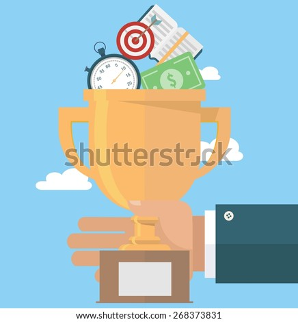 Leadership in business - stock vector