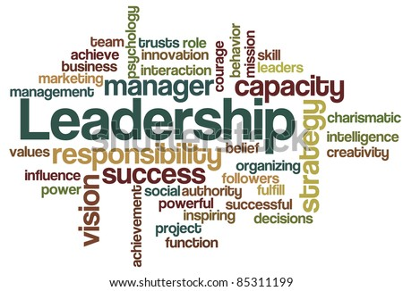Leadership Word Cloud - stock vector