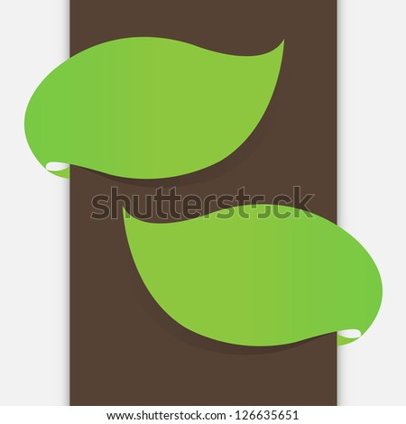 leaf banner - stock vector