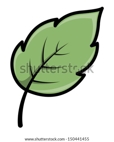 Leaf - Cartoon Vector Illustration - stock vector