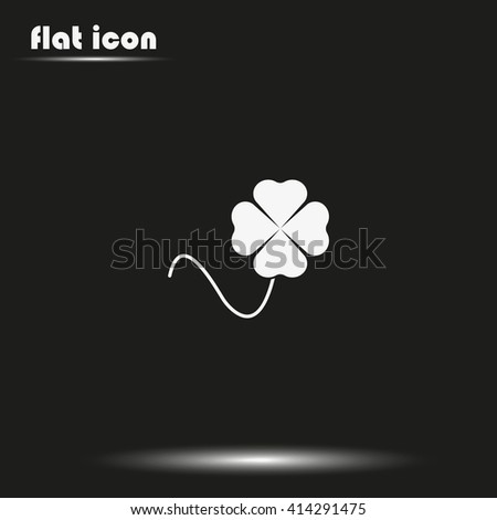 Leaf clover icon. Saint patrick symbol. Clover icon, clover icon eps10, clover icon vector, clover icon jpg, clover flat icon, clover icon app, clover icon web. - stock vector
