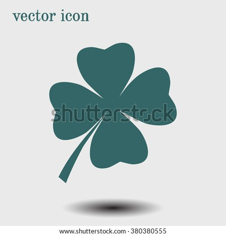 Leaf clover sign icon. Saint patrick symbol. Ecology concept. Flat design style. - stock vector