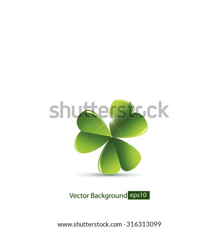 Leaf clover.Vector - stock vector