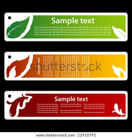 Leaf, flame & paint banner - stock vector